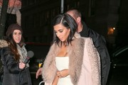 Kim Kardashian is spotted all dressed up while out and about in New York City, New York on February 10, 2015.