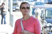 """Wild"" star Reese Witherspoon stops by a skin care clinic on Valentine's Day in West Hollywood, California on February 14, 2015. A poll of Americans has picked Reese take home the best actress Oscar this year, though most pundits believe Julianne Moore is the favorite to win."