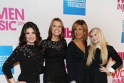 (L-R) Idina Menzel, Savannah Guthrie, Hoda Kotb and Meghan Trainor attend the 2014 Billboard Women In Music Luncheon at Cipriani Wall Street on December 12, 2014 in New York City.