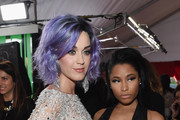 Recording Artists Katy Perry and Nicki Minaj attend The 57th Annual GRAMMY Awards at the STAPLES Center on February 8, 2015 in Los Angeles, California.