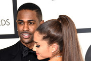 Rapper Big Sean (L) and singer Ariana Grande attend The 57th Annual GRAMMY Awards at the STAPLES Center on February 8, 2015 in Los Angeles, California.