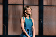 Singer Taylor Swift speaks onstage during The 57th Annual GRAMMY Awards at the at the STAPLES Center on February 8, 2015 in Los Angeles, California.
