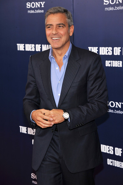 "George Clooney Actor George Clooney attends the premiere of ""The Ides of March"" at the Ziegfeld Theater on October 5, 2011 in New York City."