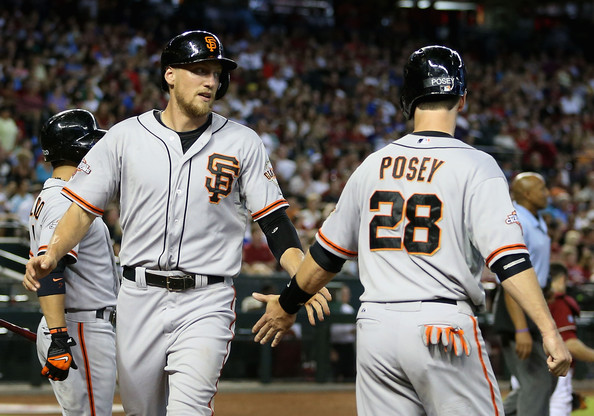 Image result for hunter pence and buster posey