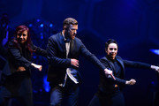 Musician  Justin Timberlake performs on stage at Barclays Center on December 14, 2014 in the Brooklyn borough of New York City.