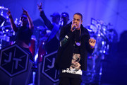 Jay-Z performs on stage at Barclays Center on December 14, 2014 in the Brooklyn borough of New York City.