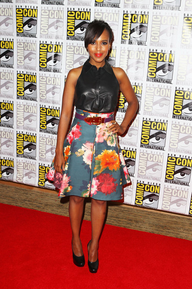 "Kerry Washington Actress Kerry Washington attends ""Django Unchained"" at Comic-Con 2012 at Hilton San Diego Bayfront Hotel on July 14, 2012 in San Diego, California."