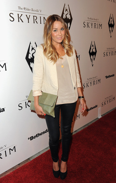 Lauren Conrad Lauren Conrad arrives at the official launch party for the most anticipated video game of the year, The Elder Scrolls V: Skyrim, at the Belasco Theatre on November 8, 2011 in Los Angeles, California.