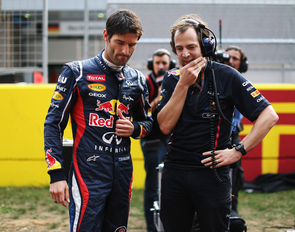 Mark Webber and Ciaron Pilbeam - F1 Grand Prix of Korea