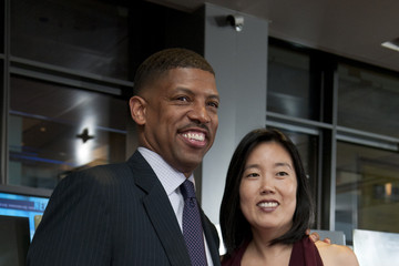 "Michelle Rhee Kevin Johnson Waiting On ""Superman"" DC Premiere"