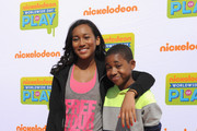 """(L-R) Actors Sydney Park and Tylen Jacob Williams of """"Instant Mom""""  attend  Nickelodeon's 11th Annual Worldwide Day of Play at Prospect Park on September 20, 2014 in New York City."""