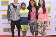 Actors  (L-R) Jack Griffo, Tylen Jacob Williams, Sydney Park and  Kira Kosarin attend Nickelodeon's 11th Annual Worldwide Day of Play at Prospect Park on September 20, 2014 in New York City.