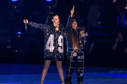 Recording artists Katy Perry and Missy Elliott perform onstage during the Pepsi Super Bowl XLIX Halftime Show at University of Phoenix Stadium on February 1, 2015 in Glendale, Arizona.