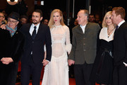 (L-R) Festival director Dieter Kosslick, actor James Franco, actress Nicole Kidman, director Werner Herzog, his wife Lena Herzog and actor Damian Lewis attend the 'Queen of the Desert' premiere during the 65th Berlinale International Film Festival at Berlinale Palace on February 6, 2015 in Berlin, Germany.