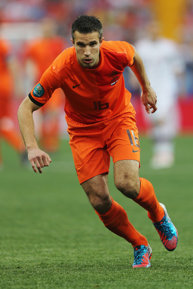 Robin Van Persie Robin van Persie of Netherlands in action during the UEFA EURO 2012 group B match between Netherlands and Denmark at Metalist Stadium on June 9, 2012 in Kharkov, Ukraine.