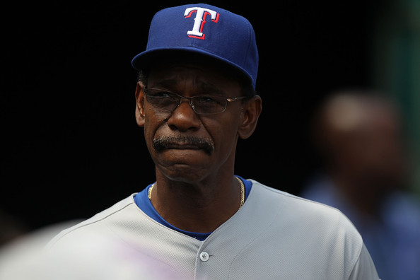 Ron Washington Manager Ron Washington of the Texas Rangers looks on against the Oakland Athletics during an MLB game at the Oakland-Alameda County Coliseum on August 8, 2010 in Oakland, California.