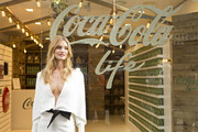 In this handout image provided by Coca Cola, Rosie Huntington-Whiteley launches Coca-Cola Life - the new addition to the Coca-Cola family sweetened from natural sources with a blend of sugar and stevia leaf extract on September 19, 2014 in London, England.