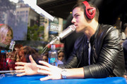Nick Jonas speaks during Ryan Seacrest On-Air Live From Macy's Herald Square on September 8, 2014 in New York City.