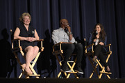 "Producer Bonnie Arnold, actor Djimon Hounsou and actress America Ferrera attend a screening of DreamWorks Animation's ""How To Train Your Dragon 2"" at Harmony Gold Theatre on January 26, 2015 in Los Angeles, California."