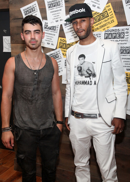 Swizz Beatz (L-R) Joe Jonas and Swizz Beatz attend the 2011 Sounds Like PAPER Concert at The House of Vans on July 6, 2011 in New York City.