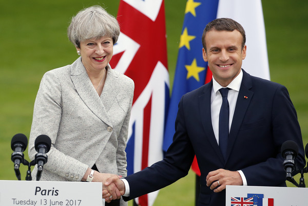Image result for may and macron, photos