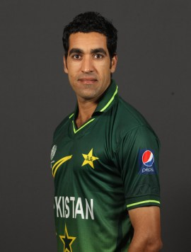 Umar Gul Umar Gul of Pakistan poses for a portrait during the Pakistan Portrait session at the Sheraton Hotel on February 13, 2011 in Dhaka, Bangladesh.