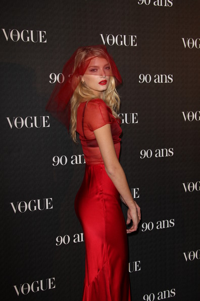 Lily Donaldson attends Vogue 90th Anniversary Party at Hotel Pozzo di Borgo on September 30, 2010 in Paris, France.