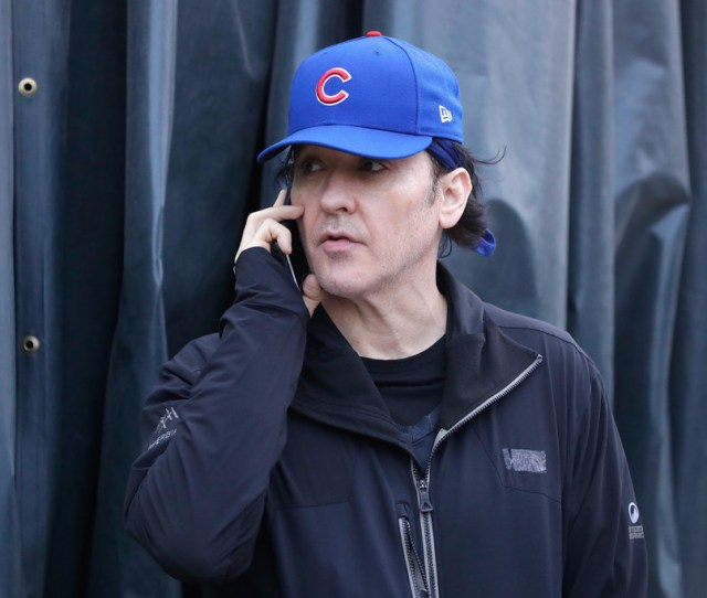 John Cusack World Series Cleveland Indians V Chicago Cubs Game Three