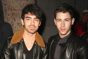 (L-R) Singer Joe Jonas and Singer/Songwriter Nick Jonas attends Z Zegna & GQ Celebrate The New Z Zegna Collection Hosted By Nick Jonas at Philymack Studios on February 5, 2015 in West Hollywood, California.