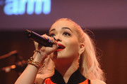 Singer Rita Ora performs at Z100 & Coca-Cola All Access Lounge at Z100's Jingle Ball 2014 pre-show at Hammerstein Ballroom on December 12, 2014 in New York City.