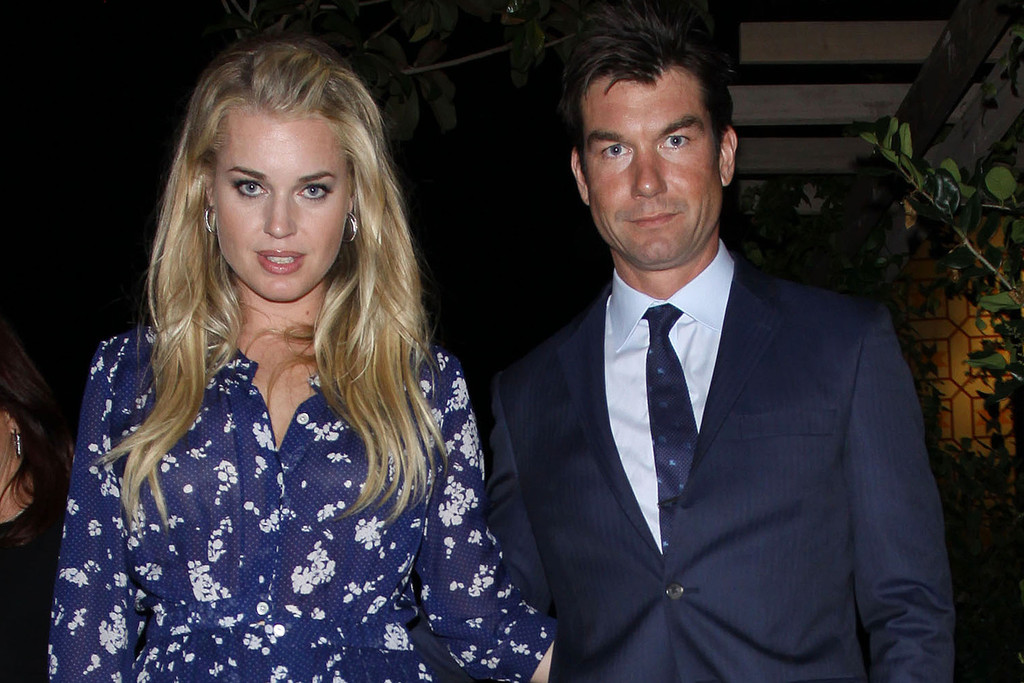 Rebecca Romijn And Jerry OConnell Leaving The