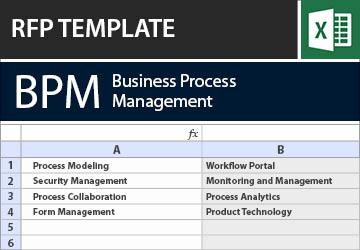 Business Process Management Bpm Rfi Rfp Template