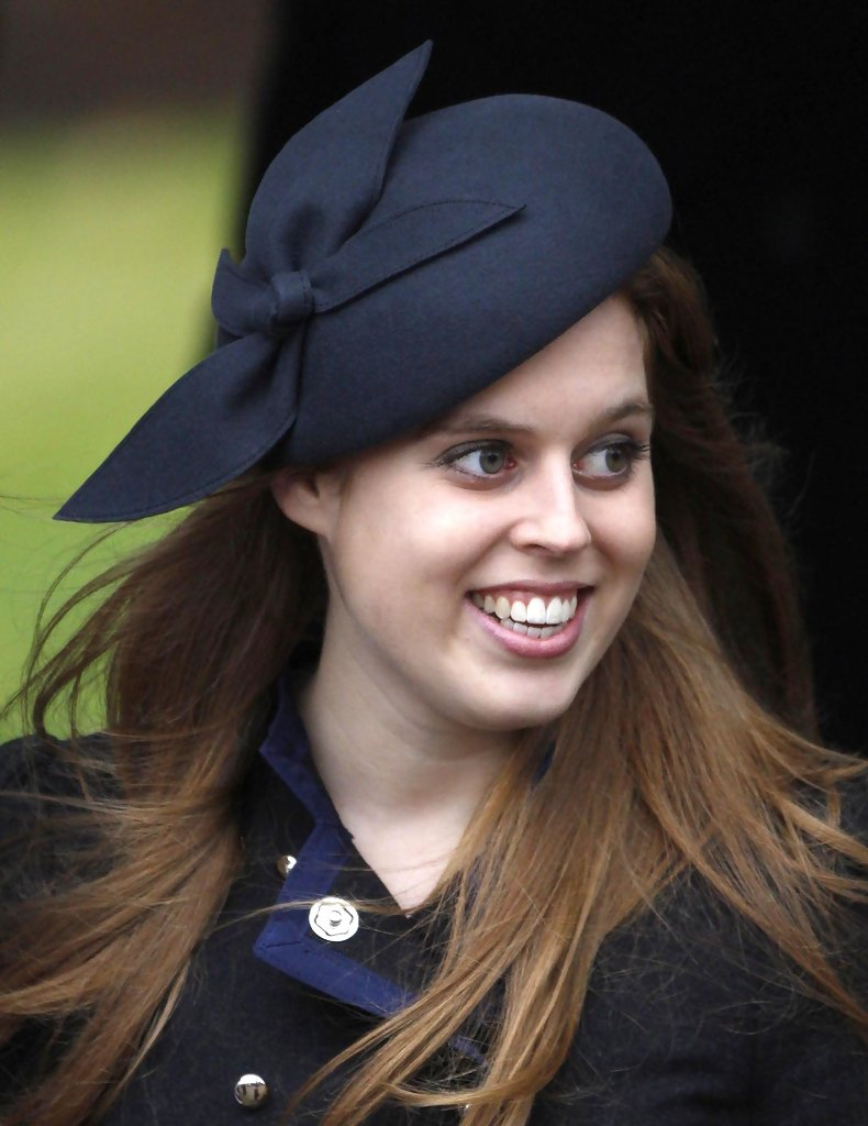 Princess Beatrice In The British Royal Family Arriving At