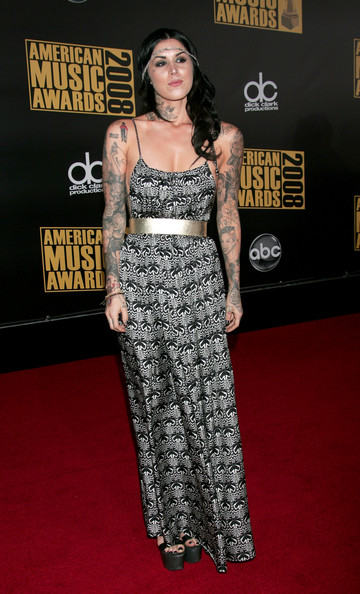 Kat Von D Tattoo artist Kat Von D arrives at the 2008 American Music Awards