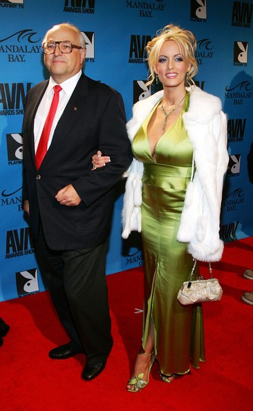 Dieter Esch, head of Wilhelmina Models (L), and adult film actress Stormy Daniels arrive at the 24th annual Adult Video News Awards Show at the Mandalay Bay Events Center January 13, 2007 in Las Vegas, Nevada.