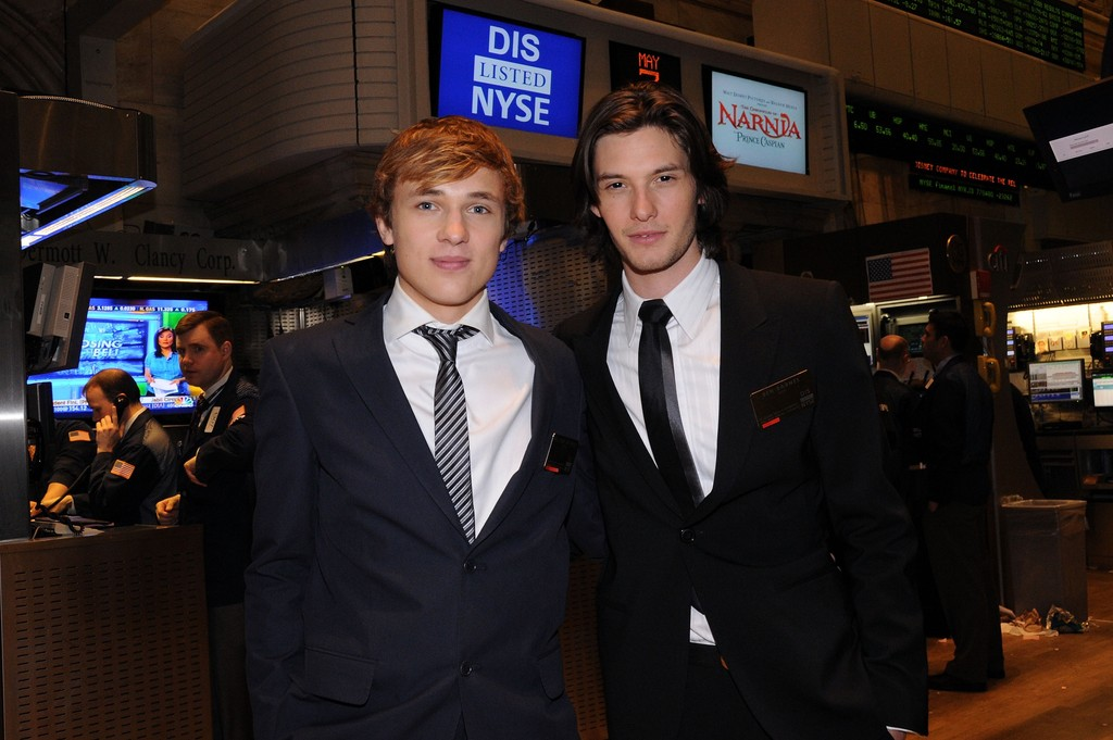 Ben Barnes & William Moseley Ring The Closing Bell At The