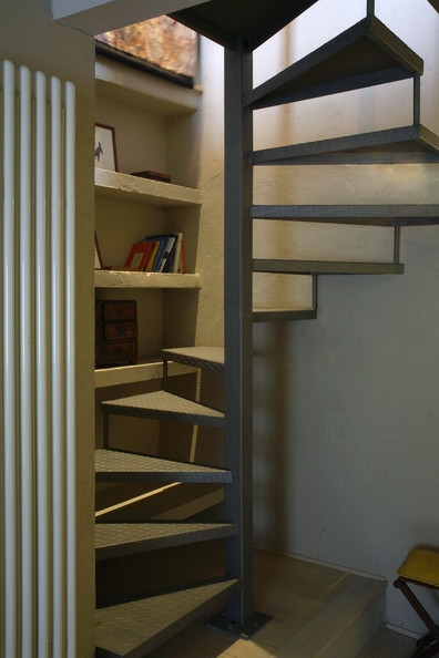 Small Space Stairs Photos 9 Of 37 | Small Stairs For Small Spaces | Design | Small Apartment | Small Living Area | Compact | Tiny House