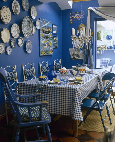 Blue Country Dining Room Dining Room Decorating Ideas