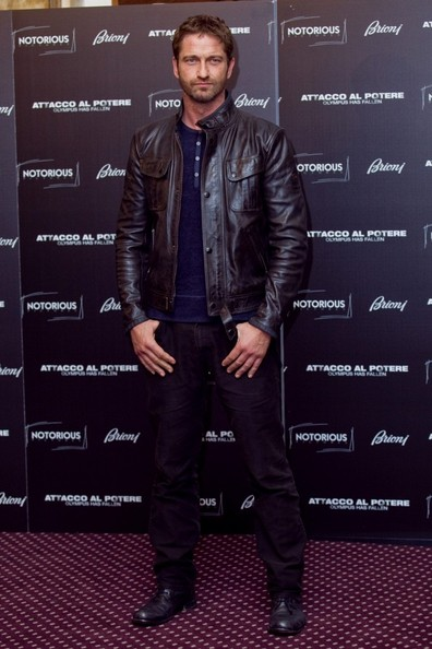Gerard Butler Leather Jacket Gerard Butler Clothes Looks