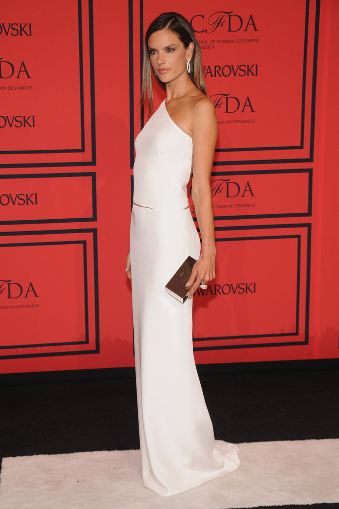 Alessandra Ambrosio One Shoulder Dress Alessandra