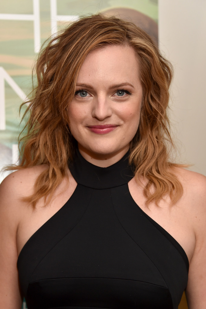 Elisabeth Moss Medium Wavy Cut Shoulder Length