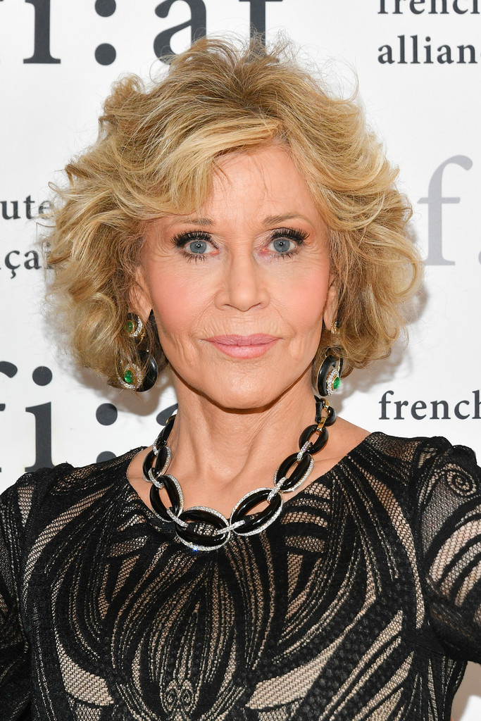 Jane Fonda Curled Out Bob Hair Lookbook StyleBistro
