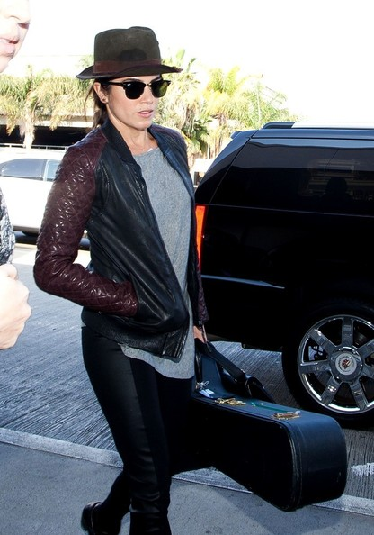 Nikki Reed arrives at LAX Airport on November 3, 2013.