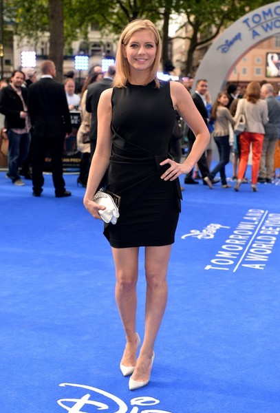 Rachel Riley on the red carpet at the Tomorrowland premiere