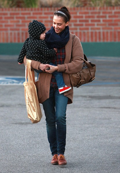 Actress Jessica Alba and her daughter Honor Warren out shopping at in Beverly Hills, CA.