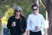 'Twilight' actress Kristen Stewart makes a morning coffee run with her former assistant-turned-bestie Alicia Cargile on January 23, 2015 in Los Feliz, California. Kristen has been spending a lot of time with her BFF Alicia Cargile, prompting many to believe the two may be romantically linked, though Kristen denied those rumors.