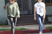 "'Twilight' actress Kristen Stewart is spotted out and about in Los Feliz, California with her rumored girlfriend Alicia Cargile on February 8, 2015. While promoting her newest film, 'Still Alice,' Kristen revealed that after working ""for a solid two years,"" she is ready for a break adding, ""I need to breathe."" This recent announcement was made shortly after Kristen was spotted canoodling on a beach with Alicia."
