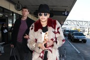 British singer Rita Ora arriving on a flight at LAX airport in Los Angeles, Calfiornia on December 9, 2014. Rita is returning from Minnesota where she performed on the Jingle Ball Tour.
