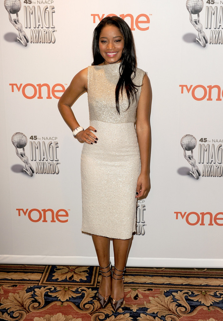 keke palmer white dress