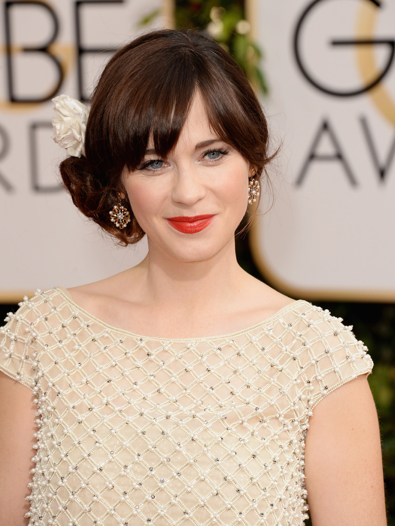 zooey deschanel 2014 golden globes